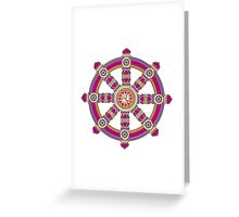 Dharma Wheel of Fortune, Buddhism,  Greeting Card