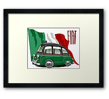 Fiat Multipla 600 caricature taxi Framed Print