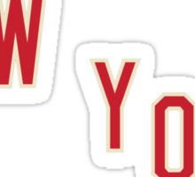 New York Jersey Logo Sticker