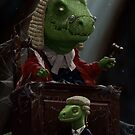Dinosaur Judge in UK Court of Law by martyee