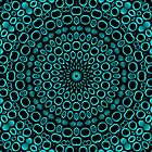 Teal Rings Mandala by Lyle Hatch