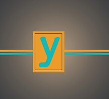 Grey Letter Y by Sean Brett