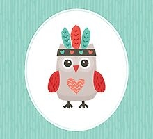 Hipster Owlet v2 - Card-iPad-Phone Cases by daisy-beatrice