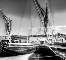 Thames sailing barges  by DavidHornchurch