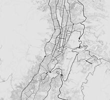 Quito, Ecuador Map. (Black on white) by Graphical-Maps