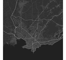 Montevideo, Uruguay Map. (White on black) Photographic Print