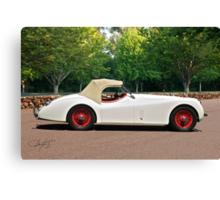 Vintage Jaguar XK120 Roadster Canvas Print