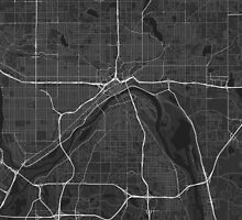 Saint Paul, USA Map. (White on black) by Graphical-Maps