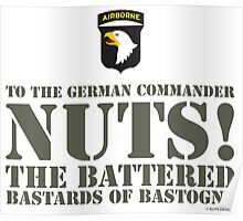 101st AIRBORNE- NUTS Poster