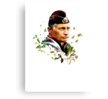 Vladimir Putin - Flowers Canvas Print