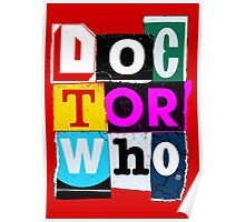 Doctor Who Collage Poster