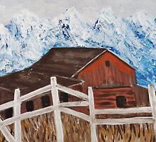 White Fence around the Barn by bevieann