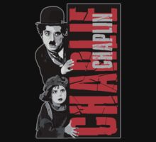 Charlie Chaplin with the kid sneak a peek Kids Clothes