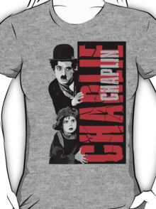 Charlie Chaplin with the kid sneak a peek T-Shirt