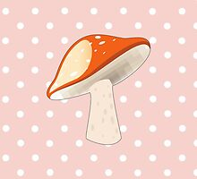 Vegetable - Spotted Mushroom (Toadstool) - Red by sitnica