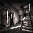Hallway in an abandoned RAF base by Art Hakker Photography