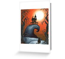 Haunted House on Old Witch Hill Greeting Card