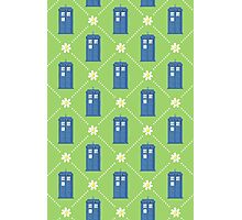 Police Box and Daisies pattern Photographic Print