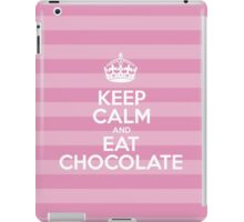 Keep Calm and Eat Chocolate - Pink Stripes iPad Case/Skin