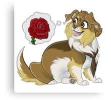 Doge!Ten and (a) Rose Canvas Print