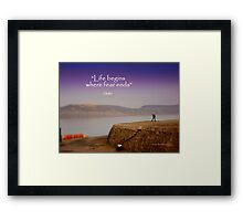 A Misty Afternoon at the Cobb Framed Print