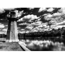 Lighthouse Along the Fox River Geneva, Illinois Photographic Print