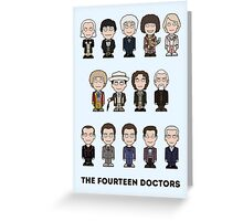 The Fourteen Doctors (card) Greeting Card