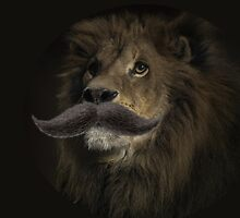 Sir Leon - Lion with a Mustache by sknsfnfrlfe
