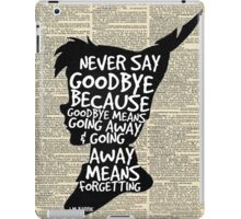 Peter Pan Vintage Dictionary Page Style -- Goodbye iPad Case/Skin