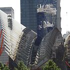 New World Trade Center Transit Hub Takes Form, Santiago Calatrava, Architect, Lower Manhattan, New York City by lenspiro
