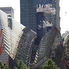 New World Trade Center Transit Hub Takes Form, Santiago Calatrava, Architect, Lower Manhattan, New York City by lenspiro