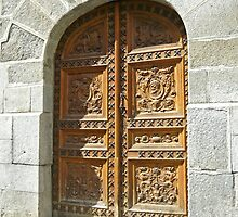 Madrid - Old Wooden Door by Michelle Falcony