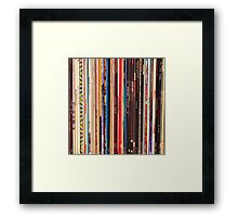 Vinyl Records Indie Rock  Framed Print