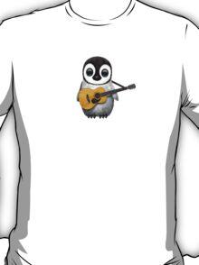 Musical Baby Penguin Playing Guitar White T-Shirt