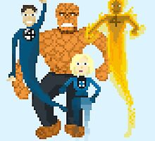 Fantastic Four Pixel Art by pixelwits