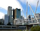 Brisbane Kurilpa Bridge  by Graeme  Hyde