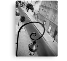 Parisan Street Lamp Metal Print