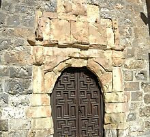 Madrid - Door with Stone Archway by Michelle Falcony