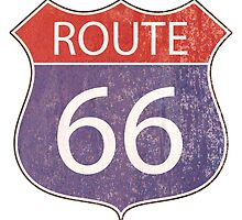 Route 66 Road Sign by surgedesigns