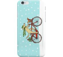 Cycling Dog and Squirrel Holiday iPhone Case/Skin