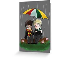 Harry and Draco Chibis Greeting Card