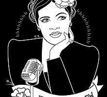 Billie Holiday in black by Killer Wolf