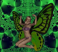Green Mad Butterfly Woman by Icarusismart