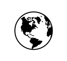 World map globe Photographic Print