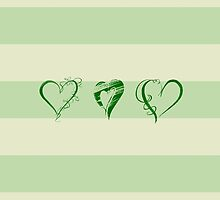 Love, Romance, Hearts - Green by sitnica