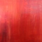 Ember Glow Haze red acrylic modern abstract painting by Sarah Trett