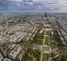 Paris from above 2 by Sarah Abernethy