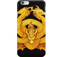 Gold Dragon Knot iPhone Case/Skin