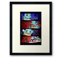 Happy Squirtle Ninjas Framed Print