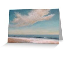 Wet Sand Reflections Greeting Card